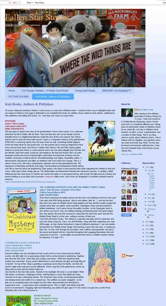 Fallen Star Stories Blogspot